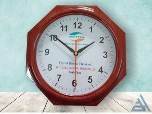 Đồng hồ treo tường bát giác giá rẻ hcm