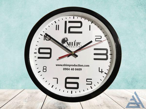 Đồng hồ treo tường 30cm sơn đen
